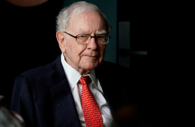 FILE PHOTO: Warren Buffett, CEO of Berkshire Hathaway Inc, at the company annual meeting weekend in Omaha