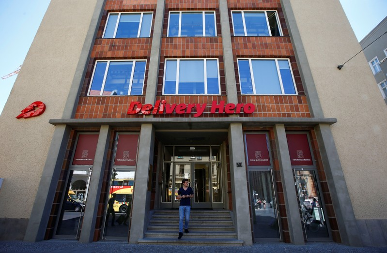 The Delivery Hero headquarters is pictured in Berlin
