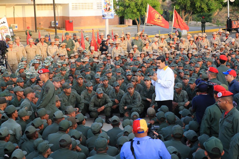 Venezuela's President Nicolas Maduro takes part in a ceremony at a Navy base in Catia La Mar