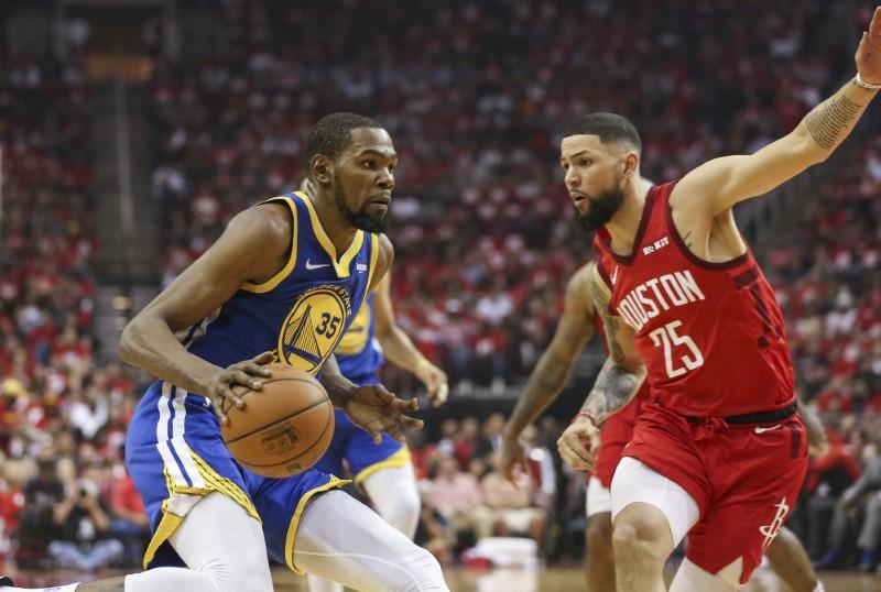 FILE PHOTO: NBA: Playoffs-Golden State Warriors at Houston Rockets