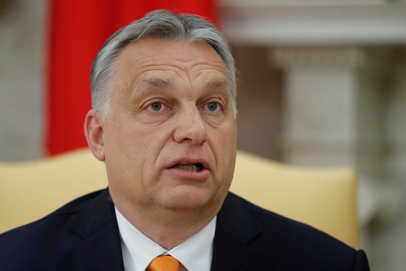 U.S. President Trump meets with Hungary's Prime Minister Orban at the White House in Washington