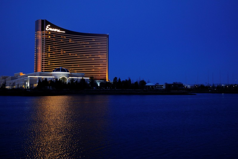 FILE PHOTO: The Encore Casino, built by Wynn Resorts in Everett, Massachusetts