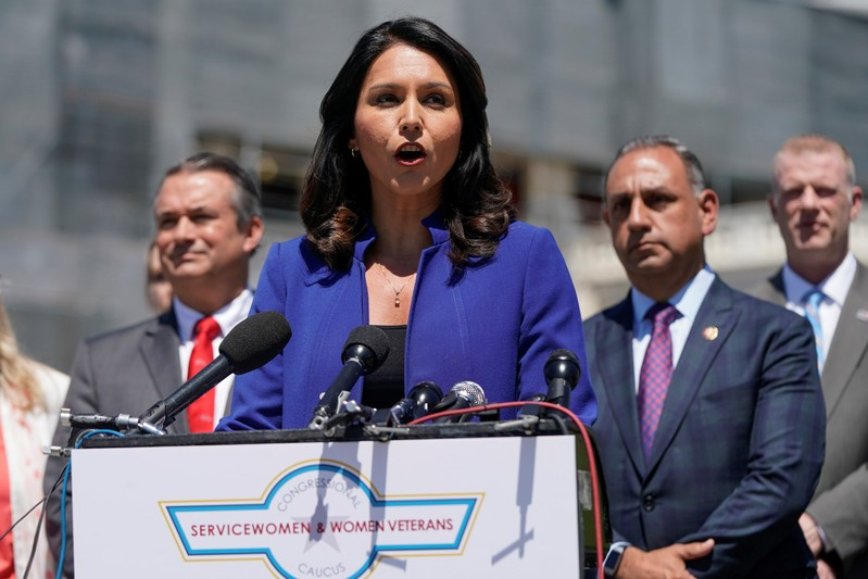 Rep. Gabbard (D-HI) speaks about the formation of the Congressional Servicewomen and Women Veterans Caucus in Washington