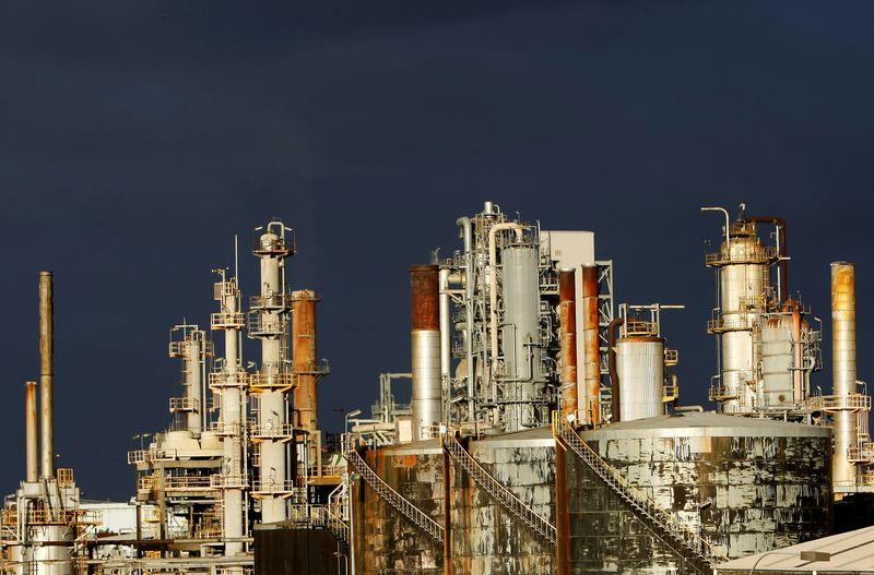 FILE PHOTO: A view of the Mobil oil refinery at Altona in Melbourne