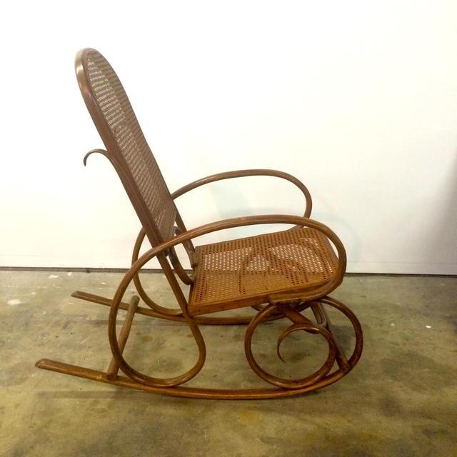 Vintage Michael Thonet Bentwood Rocking Chair  Loveseat
