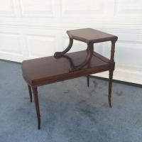 Mid Century Bi-Level End Table | Loveseat Vintage ...