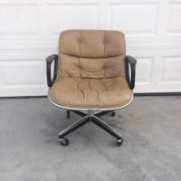 "Mid Century Modern Leather ""Knoll"" Office Chair | Loveseat ..."