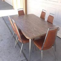 Atomic Mid Century Kitchen Table and 6 Chairs | Loveseat ...