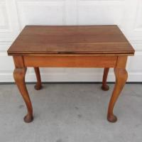 Solid Wood Vintage Dining - Gaming / Card Table | Loveseat ...