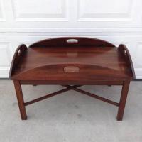 Butler Style Wooden Coffee Table | Loveseat Vintage ...