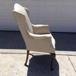Victorian Style Chair Covers Baby Shower Bench Vintage Upholstered Wingback | Loveseat Furniture San Diego