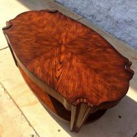 Unique Art Deco Style Coffee Table | Loveseat Vintage ...