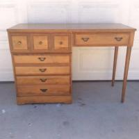 Genuine Solid Birch Wood Vintage Desk | Loveseat Vintage ...