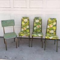 Single Vinyl Midcentury Floral Chair | Loveseat Vintage ...