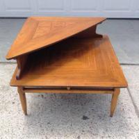 """Lane"" Midcentury Modern 2-Tier Corner Table | Loveseat ..."