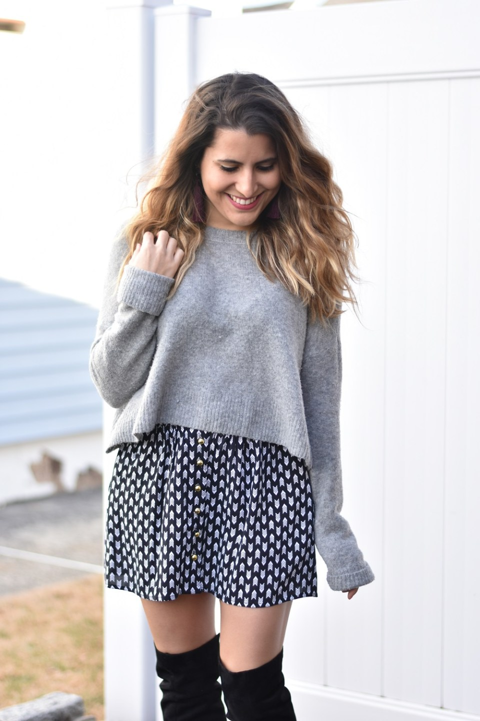 Cropped Sweaters & Short Skirts