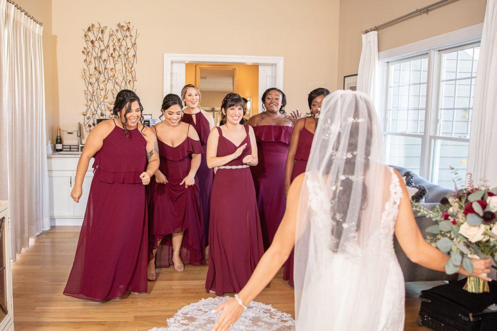 NJ Fall Wedding Bear Brook Valley Bridal Party Details