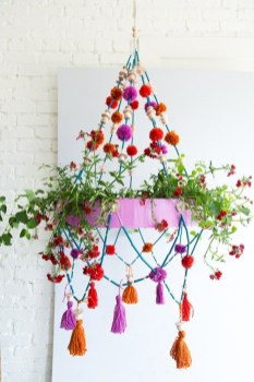 Diy polished chandelier planter 26