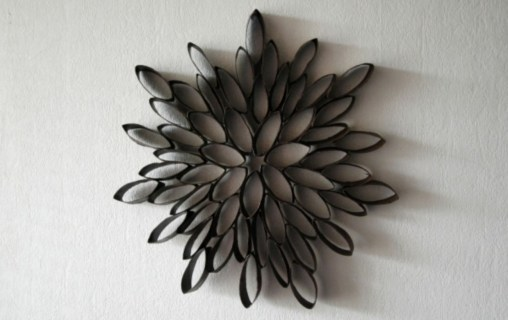 Diy paper roll wall art to beautify your home 01