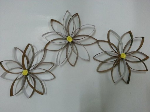 Diy paper roll wall art to beautify your home 32