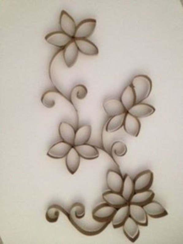 Diy paper roll wall art to beautify your home 47