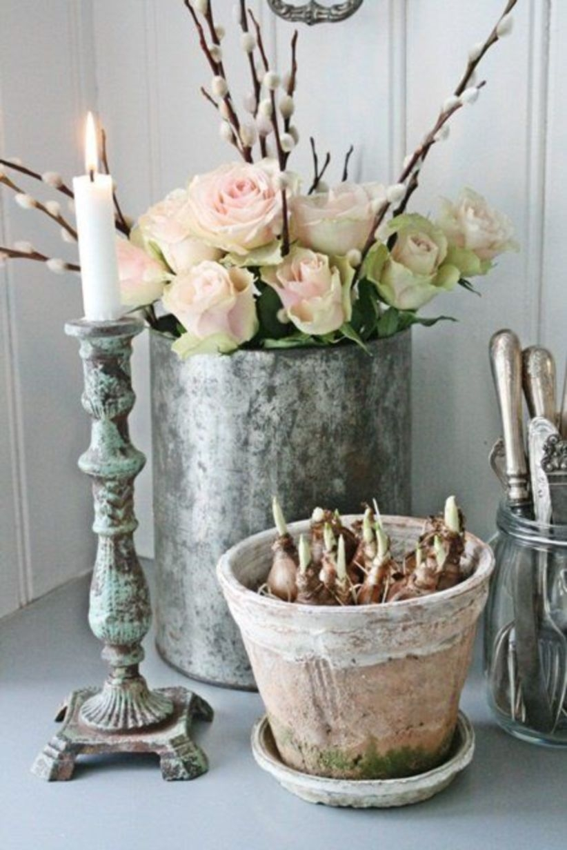 Diy shabby chic home decor ideas for wrapped vase