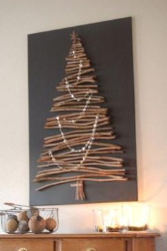 Diy wall christmas tree to save your space 11