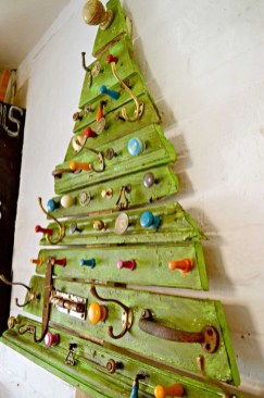Diy wall christmas tree to save your space 12