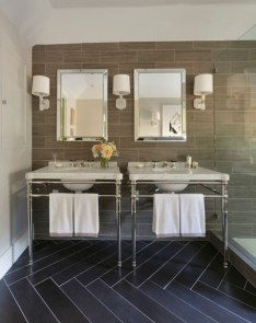 Elegant black herringbone tiles for your space 18