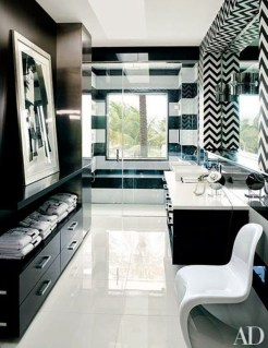 Elegant black herringbone tiles for your space 30