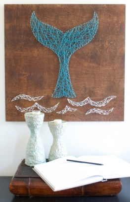 Make your own string art that look artsy for your space 08