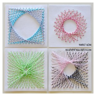 Make your own string art that look artsy for your space 39