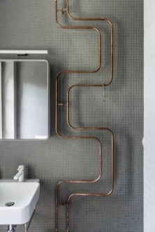 Stunning ideas to use copper pipes for your home decor 27