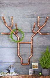 Stunning ideas to use copper pipes for your home decor 29