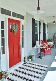 Rustic farmhouse front porch decorating ideas 12