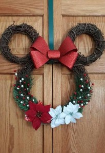 On a budget diy christmas wreath to deck out your door 12