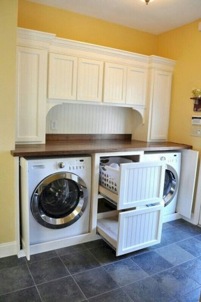 Beautiful and functional small laundry room design ideas 09