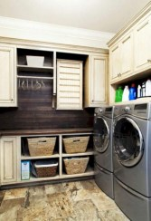 Beautiful and functional small laundry room design ideas 37