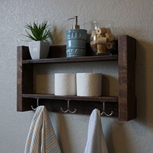Built-in bathroom shelf and storage ideas to keep your bathroom organized 19