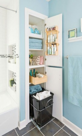 Built-in bathroom shelf and storage ideas to keep your bathroom organized 33