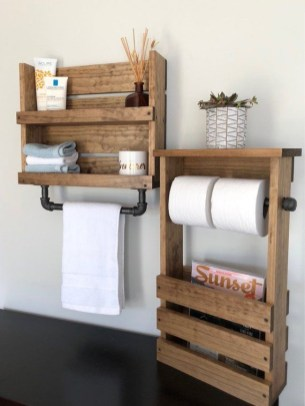 Built-in bathroom shelf and storage ideas to keep your bathroom organized 42