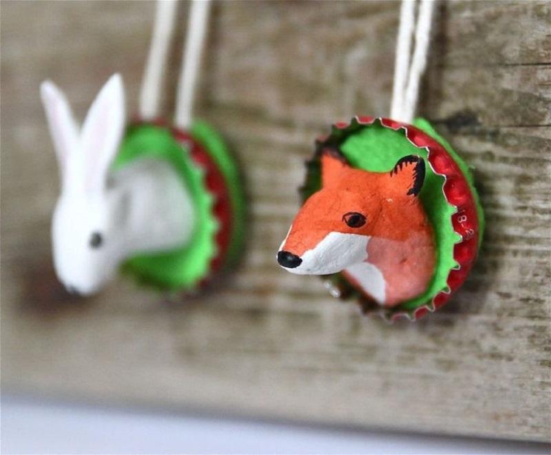 Add spring animal ornaments