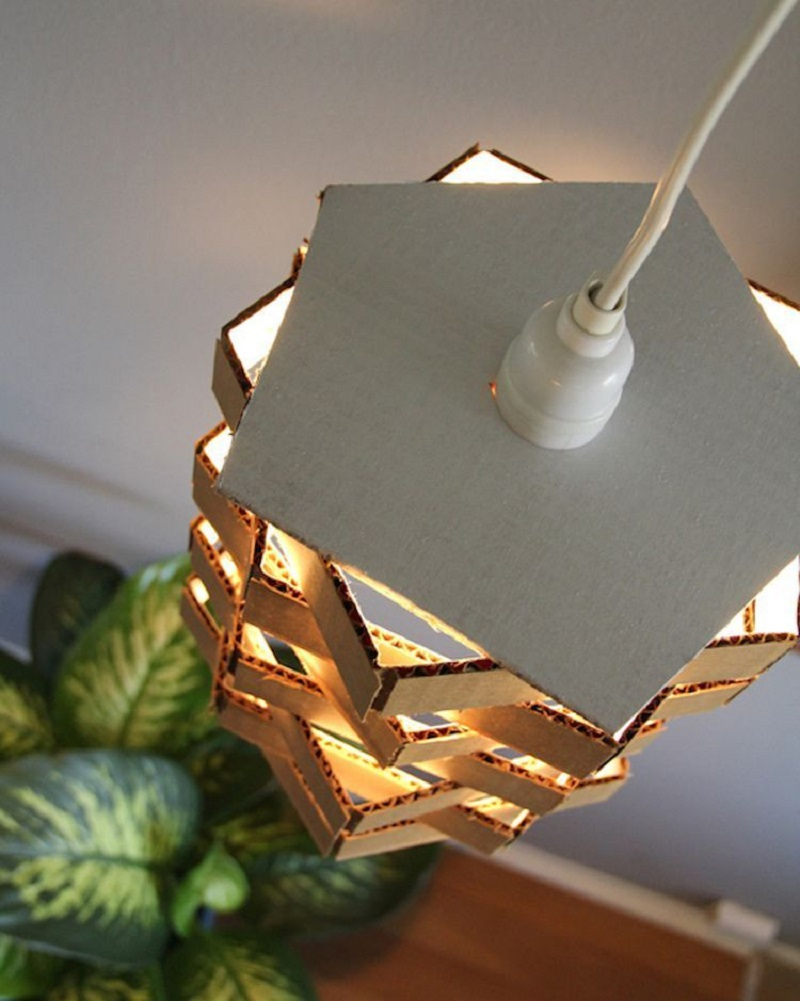 Diy cardboard pendant light Undoubtedly Gorgeous DIY Pendant Light Fixtures From Upcycle Items