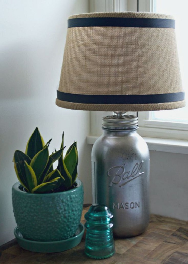 Mason jar farmhouse style lamp DIY Lamp Ideas To Revamp Your Old Lamp Into The Most Captivating Lamp Ever