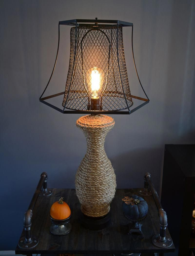 Rustic and industrial style lamp DIY Lamp Ideas To Revamp Your Old Lamp Into The Most Captivating Lamp Ever