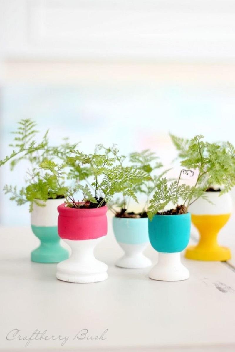 Colorful miniature planters