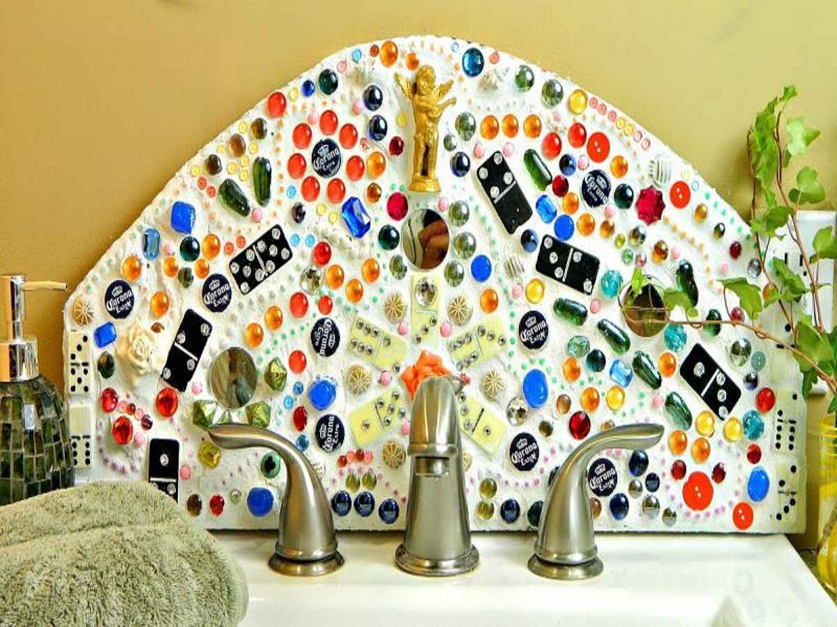 Beautiful backsplash DIY Out Of The Box Bottle Cap Craft Ideas That Kids And Adult Can Create Together