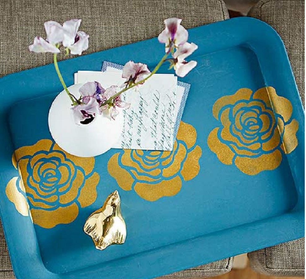 Bold featuring gold tray DIY Winsome Serving Trays To Show Your Stylish Detail