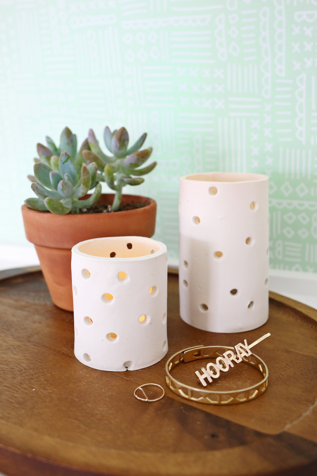 Diy easy clay votive DIY Beautiful In White Decoration Ideas Where All Will Look Pure