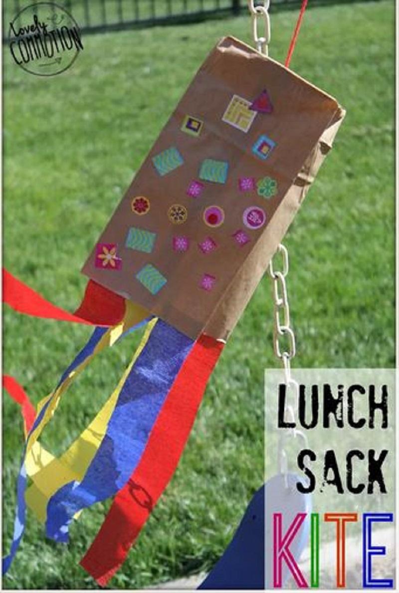 Diy lunch sack kite